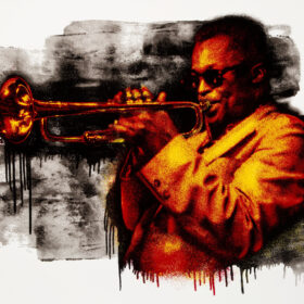 Mr Brainwash Miles Davis Orange
