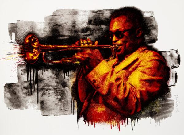 Mr Brainwash Miles Davis Orange