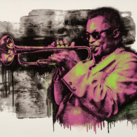 Mr Brainwash Miles Davis Pink/Green