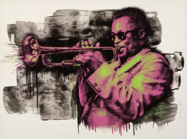 Mr Brainwash Miles Davis Pink/Green