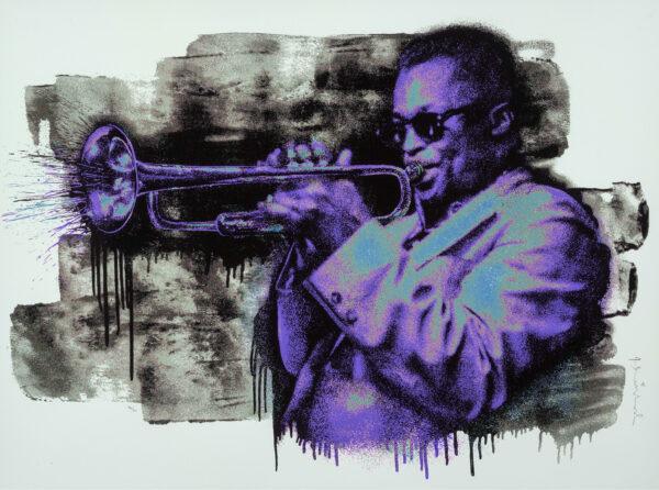 Mr Brainwash - Miles Davis - Purple/Blue