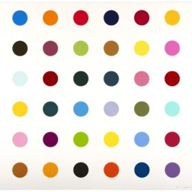 Damien Hirst Fluoroiodobenzene from the 2010 series of 12 woodcuts